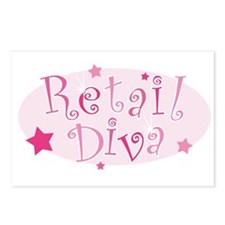 """""""Retail Diva"""" [pink] Postcards (Package of 8)"""
