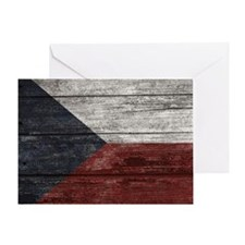 Wood Boards Czech Republic Flag king Greeting Card
