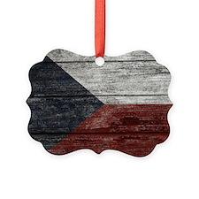 Wood Boards Czech Republic Flag k Ornament