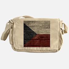 Wood Boards Czech Republic Flag king Messenger Bag