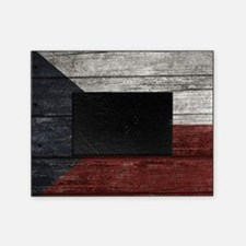 Wood Boards Czech Republic Flag king Picture Frame