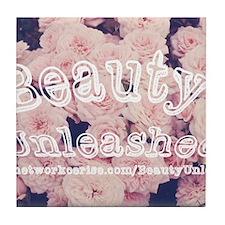 Beauty Unleashed Logo Tile Coaster