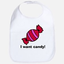 I Want Candy Bib