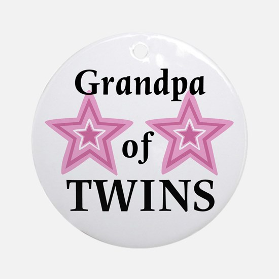 Grandpa of Twins (Girls) Ornament (Round)