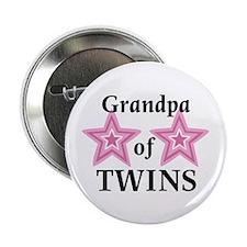 "Grandpa of Twins (Girls) 2.25"" Button (10 pack)"