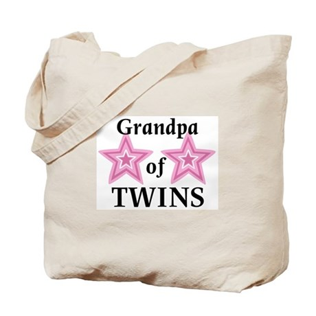 Grandpa of Twins (Girls) Tote Bag