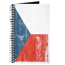 Distresssed Czech Republic Flag 3 by 5 Rug Journal