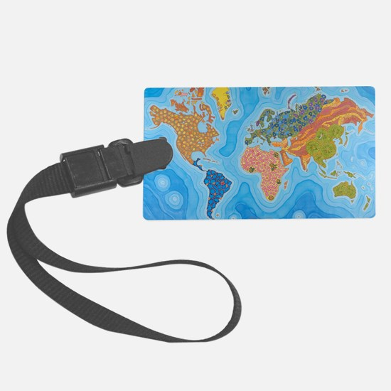 The Map of Health Luggage Tag