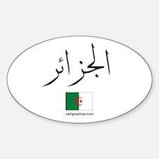 Algeria Flag Arabic Oval Decal