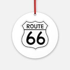Route 66 Round Ornament
