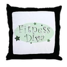 """""""Fitness Diva"""" [green] Throw Pillow"""