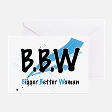 Lovely D- Big Better Woman Collectio Greeting Card