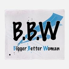 Lovely D- Big Better Woman Collectio Throw Blanket