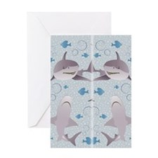 Sharks Swimming Greeting Card