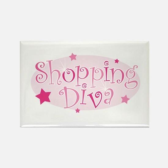 """Shopping Diva"" [pink] Rectangle Magnet"