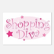 """Shopping Diva"" [pink] Postcards (Package of 8)"