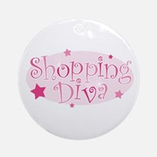 """""""Shopping Diva"""" [pink] Ornament (Round)"""
