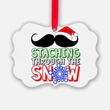 Staching Through The Snow Holiday Ornament