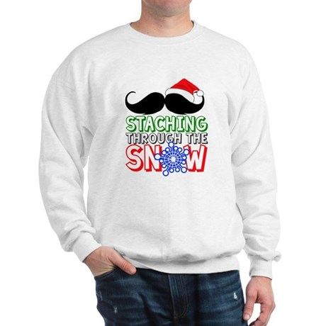 Staching Through The Snow Holiday Sweatshirt