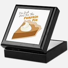Im Just Here For The Pumpkin Pie Keepsake Box