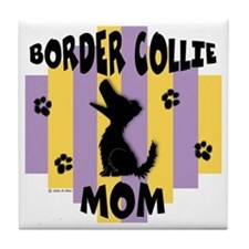 Border Collie Mom Tile Coaster