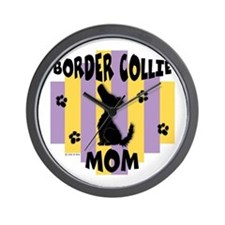 Border Collie Mom Wall Clock