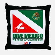 Dive Mexico Throw Pillow