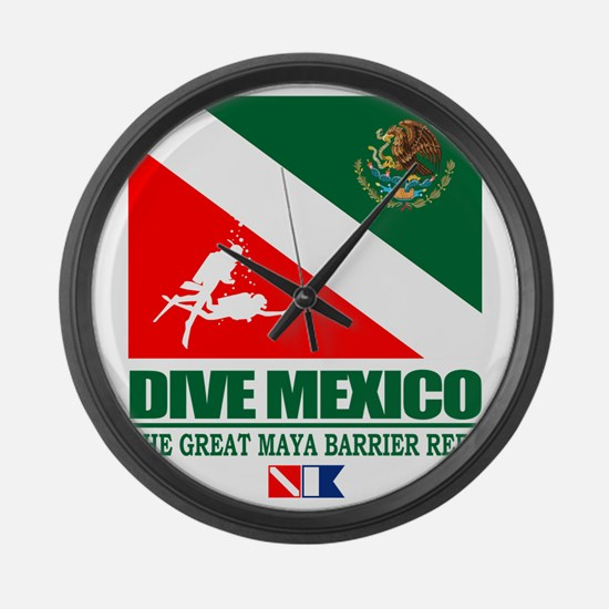Dive Mexico Large Wall Clock