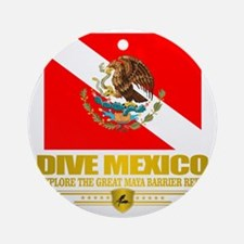 Dive Mexico 2 Round Ornament