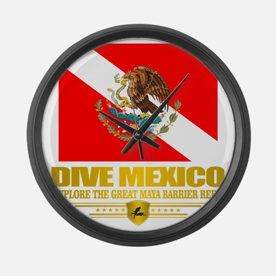 Dive Mexico 2 Large Wall Clock