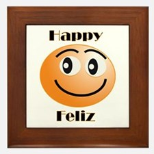 Happy/Feliz Framed Tile