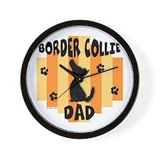 Border Collie Dad Wall Clock