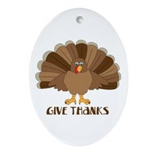Give Thanks Ornament (Oval)