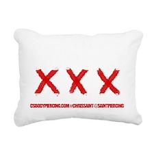 Anti Piercing Gun Shirt Rectangular Canvas Pillow