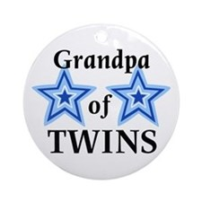 Grandpa of Twins (Boys) Ornament (Round)