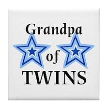 Grandpa of Twins (Boys) Tile Coaster