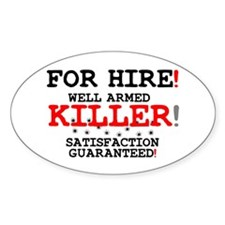 KILLER FOR HIRE! Stickers