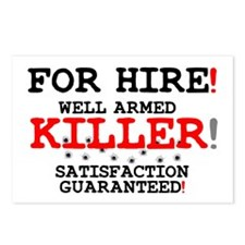 KILLER FOR HIRE! Postcards (Package of 8)