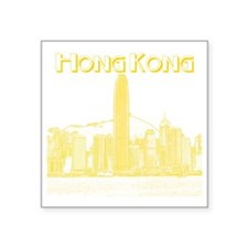 "HongKong_10x10_v1_Skyline_C Square Sticker 3"" x 3"""