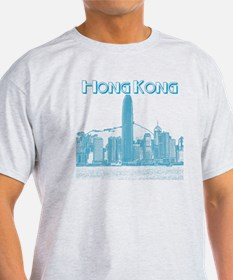 HongKong_10x10_v1_Skyline_Central_Bl T-Shirt