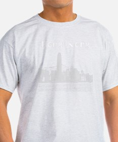 HongKong_12X12_Skyline_Central_White T-Shirt