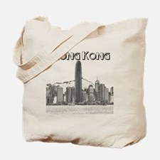 HongKong_10x10_v1_Skyline_Central_Black Tote Bag