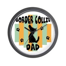 Border Collie Dad Wall Clock