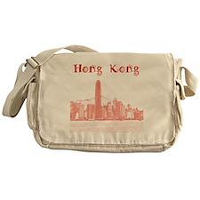 HongKong_12X12_Skyline_Central_Red Messenger Bag
