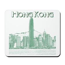 HongKong_10x10_v1_Skyline_Central_Black_ Mousepad