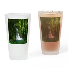 Waterfall in Azores Drinking Glass