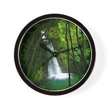 Waterfall in Azores Wall Clock