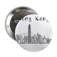 """HongKong_12X12_Skyline_Central_Black 2.25"""" Button"""