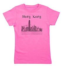 HongKong_12X12_Skyline_Central_Black Girl's Tee