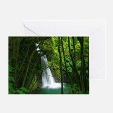 Waterfall in Azores Greeting Card